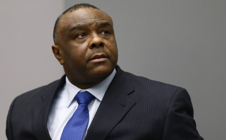 Jean-Pierre Bemba in the courtroom of the International Criminal Court (ICC) in The Hague on June 21, 2016.
