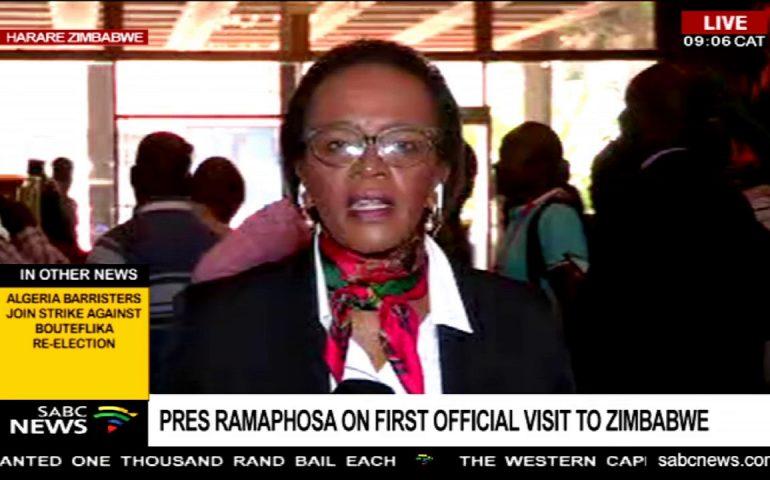 President Ramaphosa in Zimbabwe