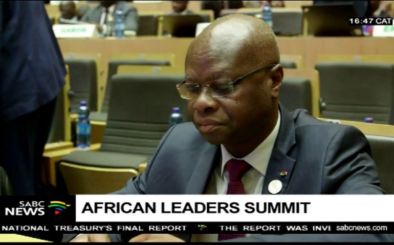 African leaders meet at the African Union headquarters