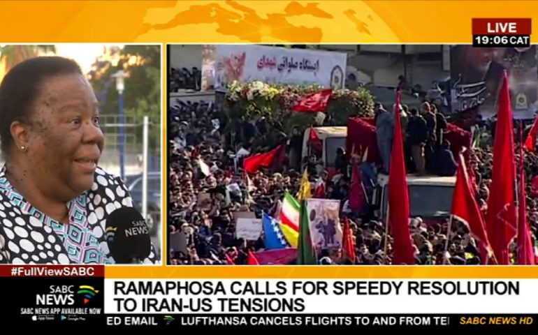US-Iran Tensions | Min. Pandor on SA's position on US-Iran tensions