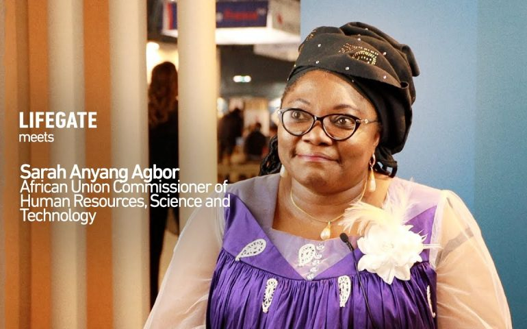 LifeGate meets Sarah Anyang Agbor, interview with the African Union Commissioner