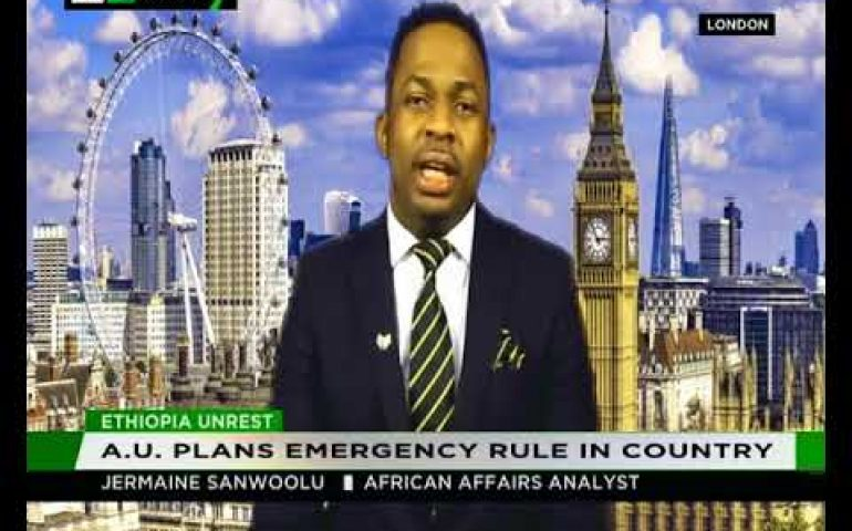 Jermaine Sanwoolu  shares his thoughts on the unrest in Ethiopia