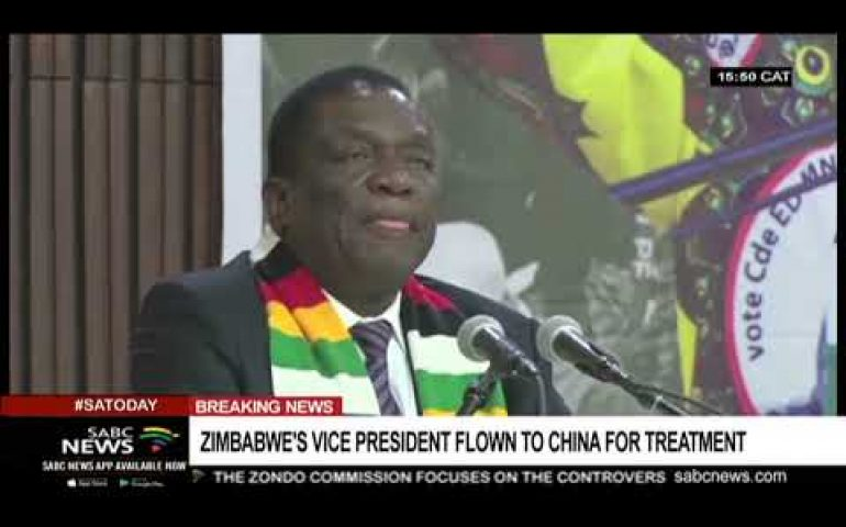 Zimbabwe Vice President flown to China for treatment