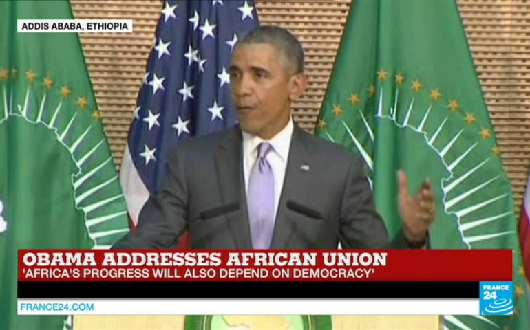 Watch US president Obama's full address to the African Union on FRANCE24