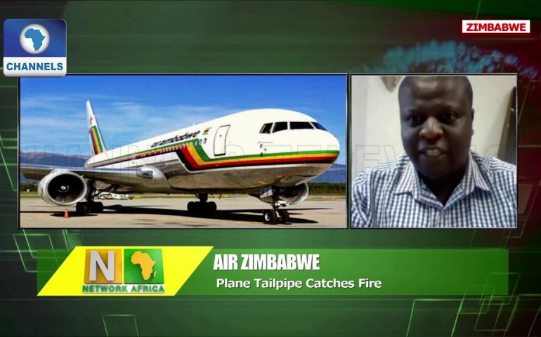 Zimbabwe Plane Landed Safely After Catching Fire Mid-air  Network Africa 