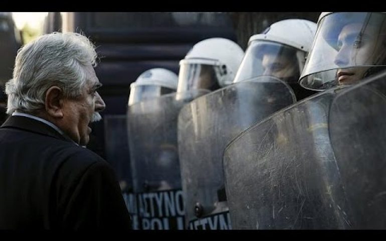 Brief scuffles as pensioners and workers march on Athens
