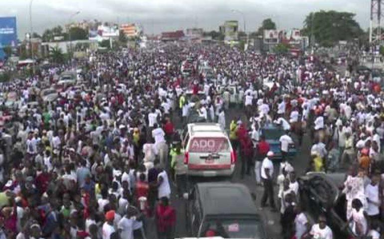 Ouattara holds rally ahead of Ivory Coast vote
