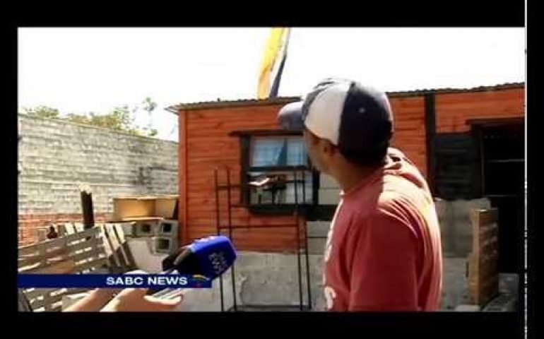 Neighbours angered by old South African flag