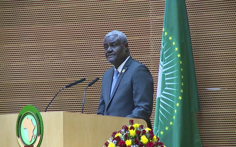 H.E. Moussa Faki Mahamat The Chairperson of the African Union Commission.