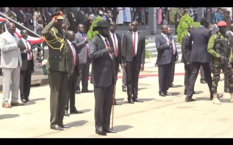 Rebel leader Riek Machar returns to mark peace deal in South Sudan