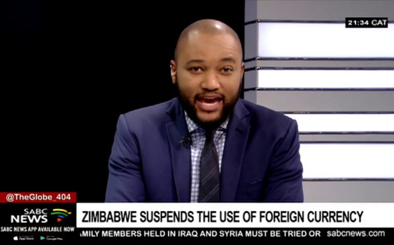 Suspension of foreign currency usage in Zimbabwe: Prosper Chitambara