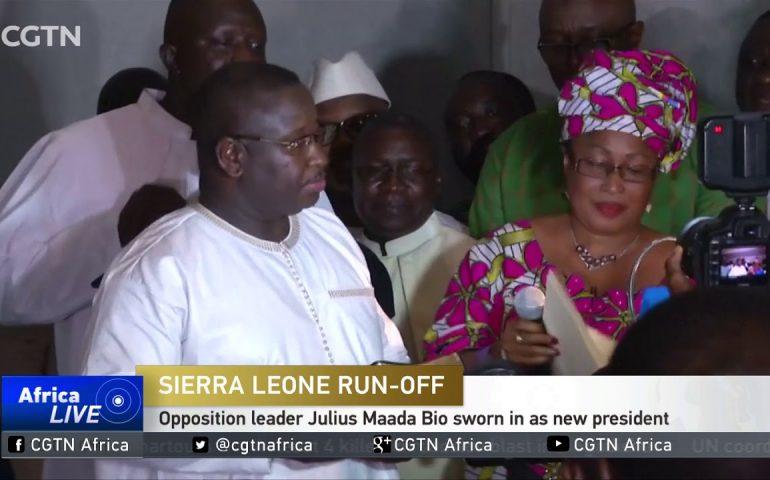 Julius Maada Bio sworn in as new Sierra Leone president
