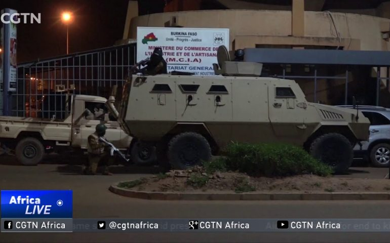 African Union's chairperson Alpha Conde visits attack site
