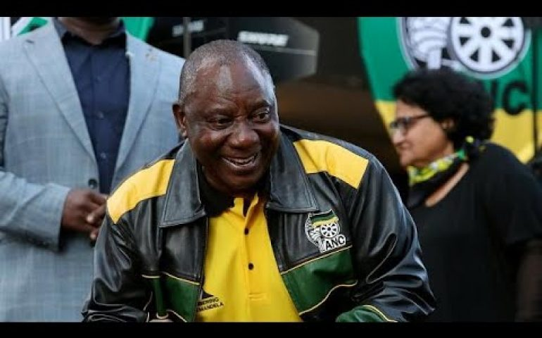 South Africa president reiterates corruption clean up after poll win