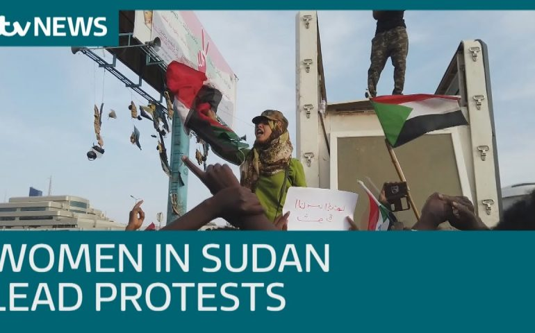 Sudan women lead the anti-government protests | ITV News