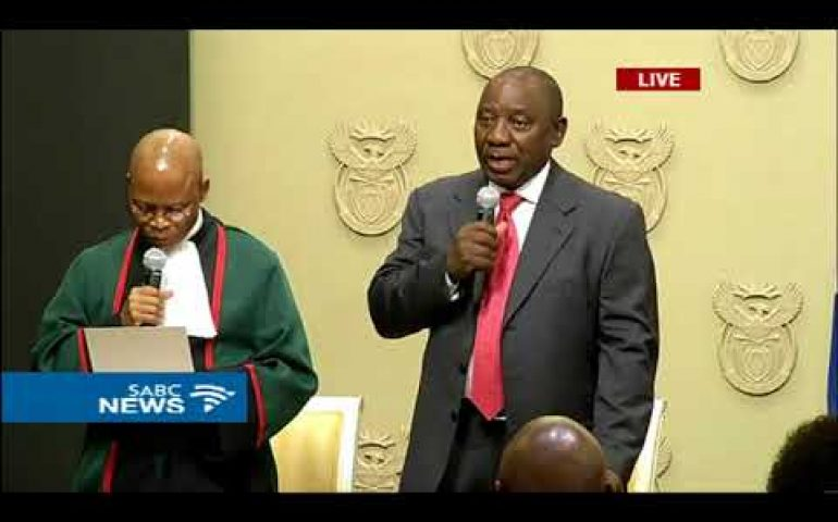 BREAKING NEWS: Cyril Ramaphosa sworn in as President of South Africa